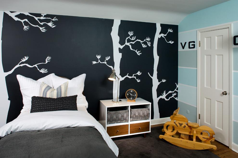 近年来墙体彩绘形式的手绘墙在家庭装修火热起来