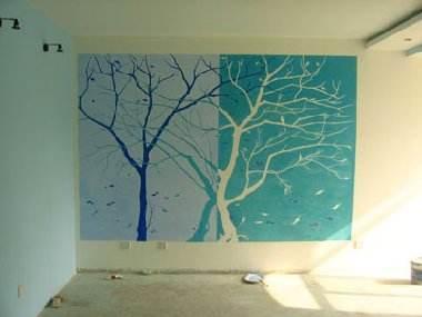 室外石板路面的手绘马克笔表现