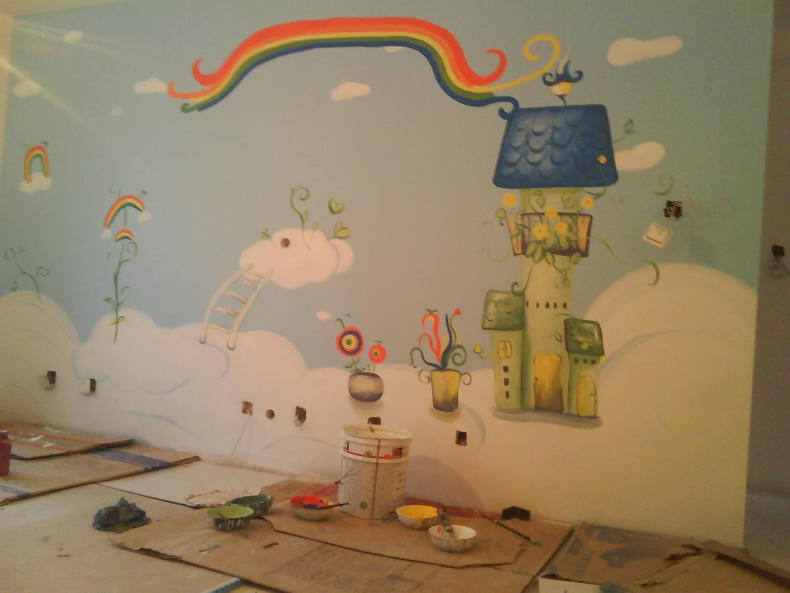 手绘墙对于一个设计师来说不能说雪中送炭